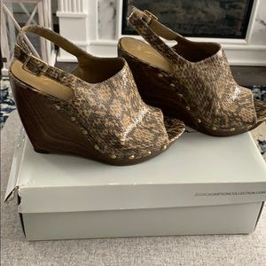 Jessica Simpson snake skin wedge
